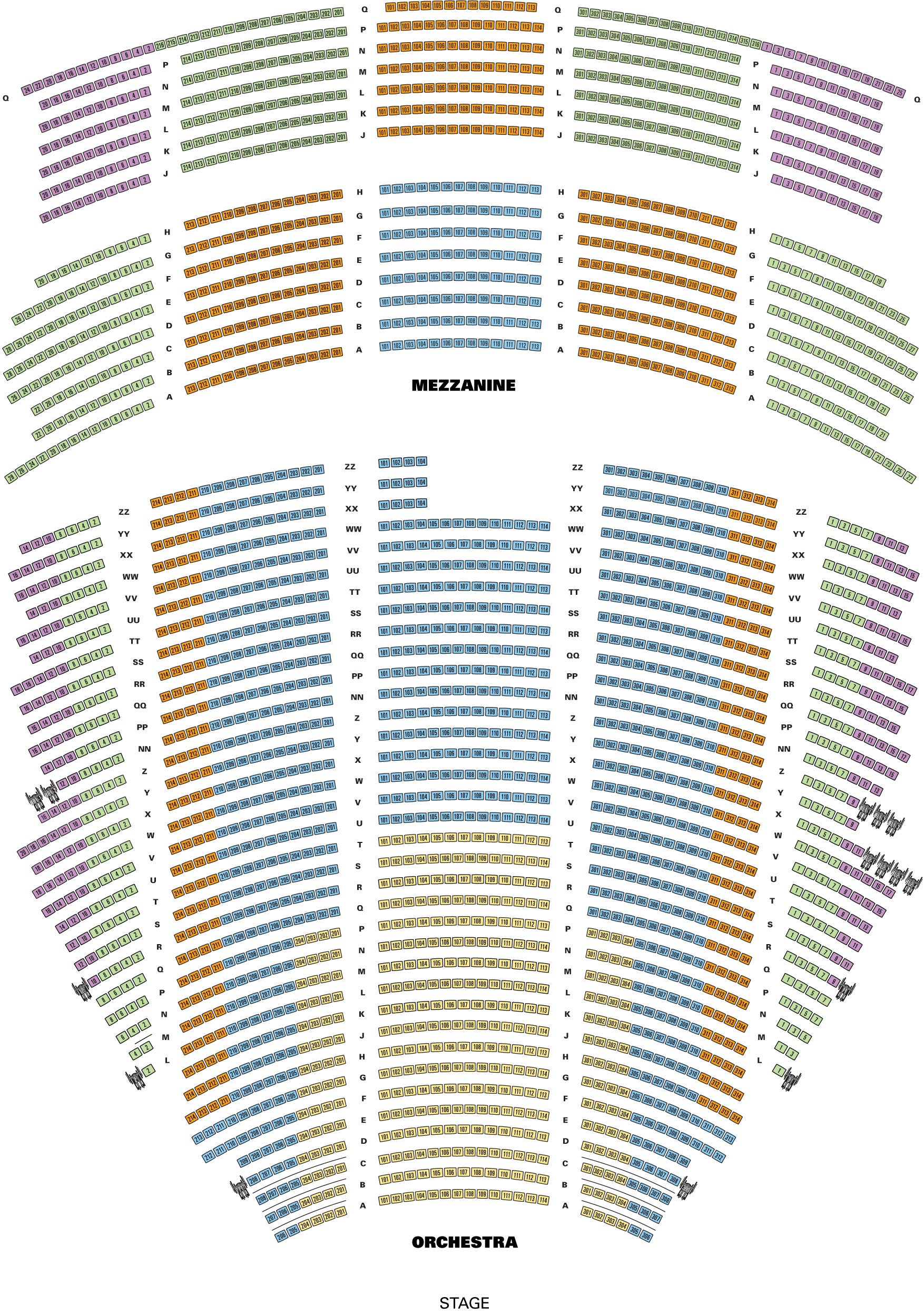 Pantages Seating Chart Yatan Vtngcf Org
