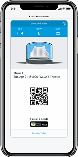 how to add ticketmaster ticket to apple wallet