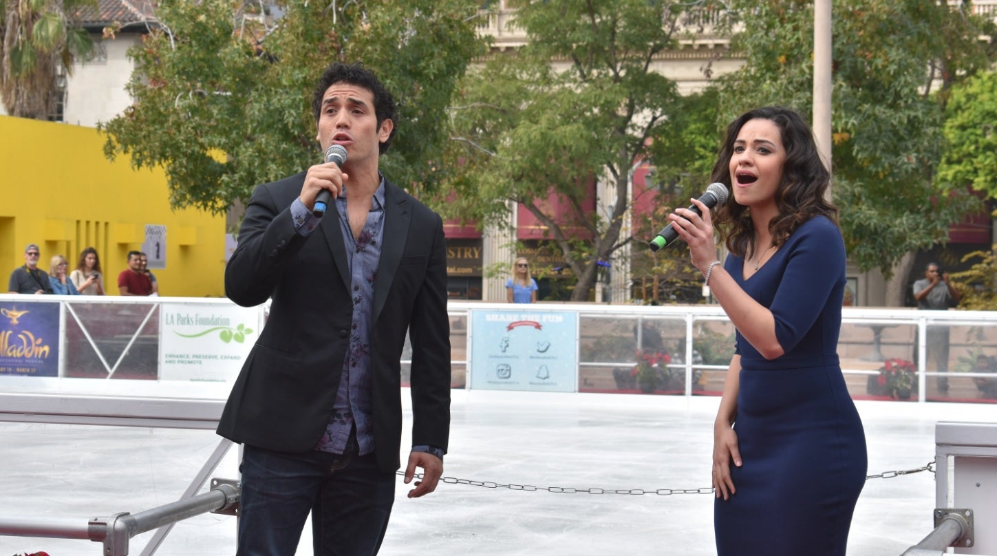 More Info for Disney's Aladdin Opens the Bai Holiday Ice Rink in Pershing Square